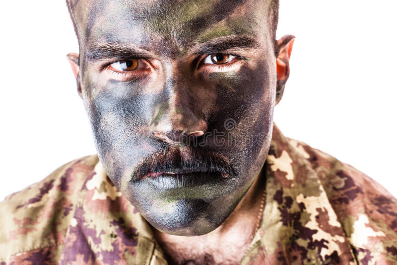 Soldato Portrait fotografie stock