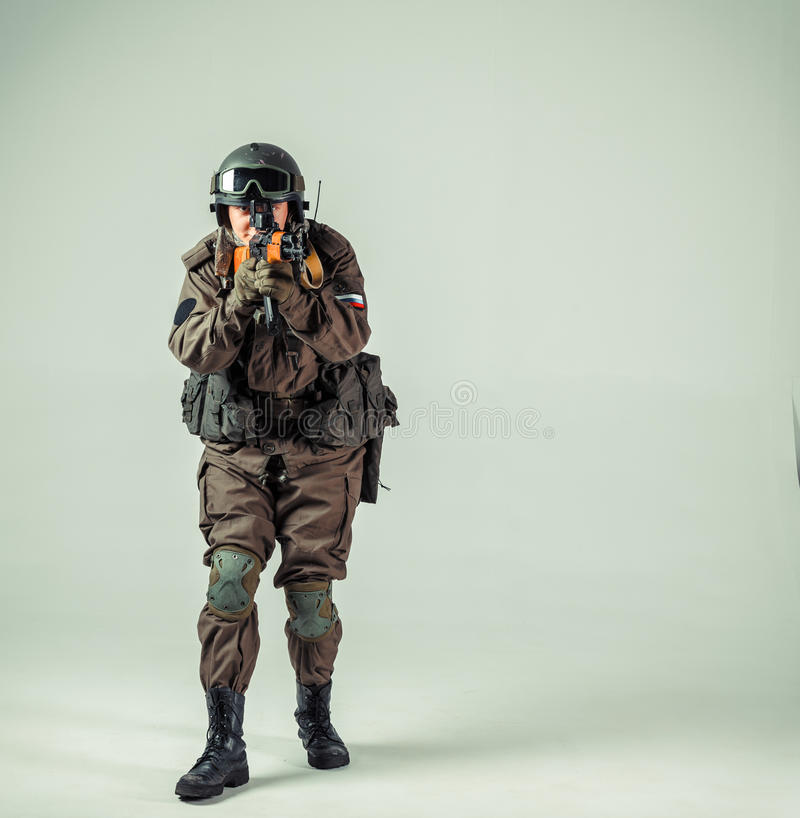 Soldato russo delle forze speciali fotografia stock