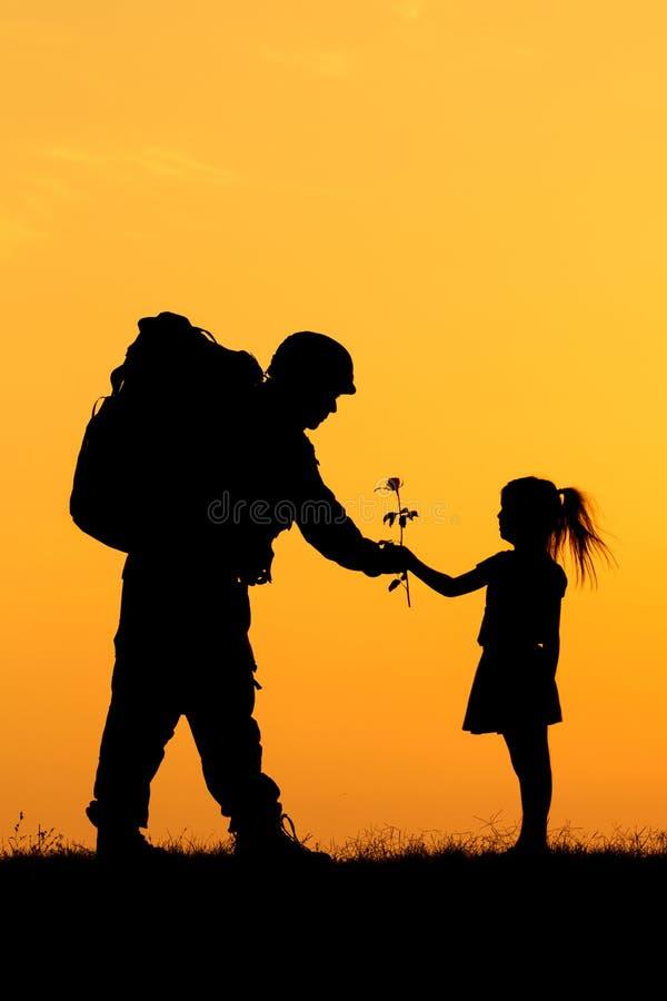 Soldato Silhouette fotografia stock libera da diritti