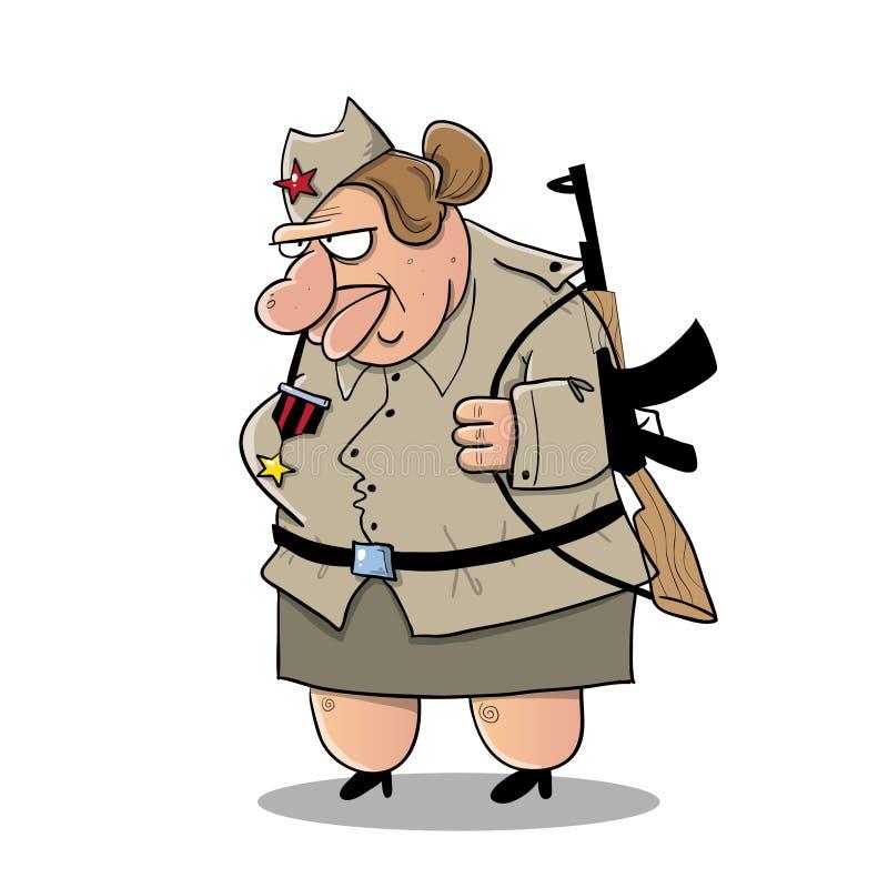 Soldato sovietico della grande donna illustrazione vettoriale