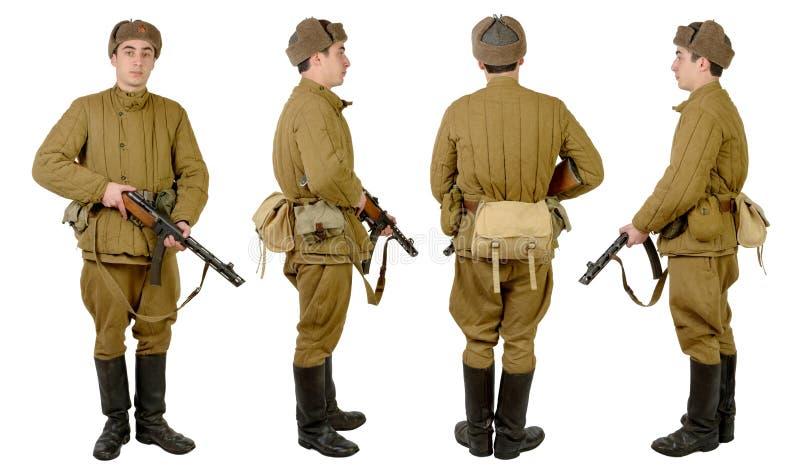 Soldato sovietico in wwii fotografie stock libere da diritti