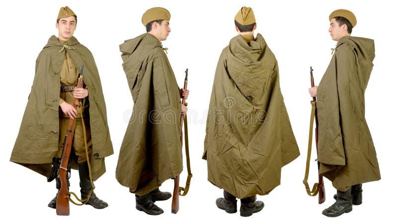 Soldato sovietico in wwii immagini stock