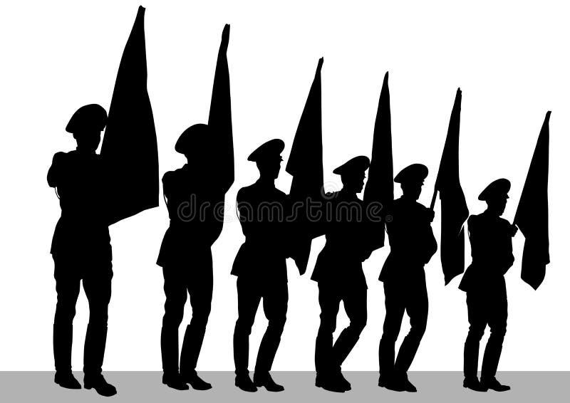 Soldato sulla parata illustrazione di stock
