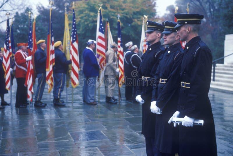 Soldats à la cérémonie du jour de vétéran photos libres de droits