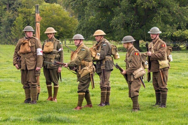 Soldats alliés de WW1 images libres de droits