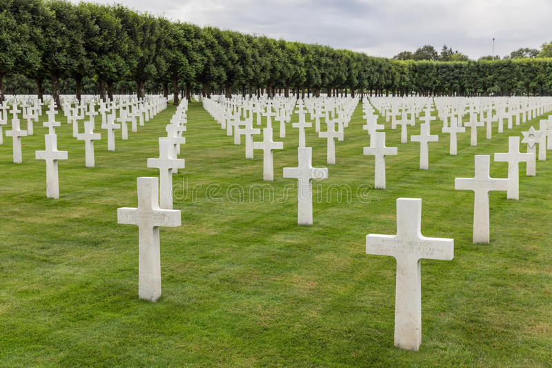 Soldats américains du cimetière WW1 qui sont morts à la bataille de Verdun photos libres de droits