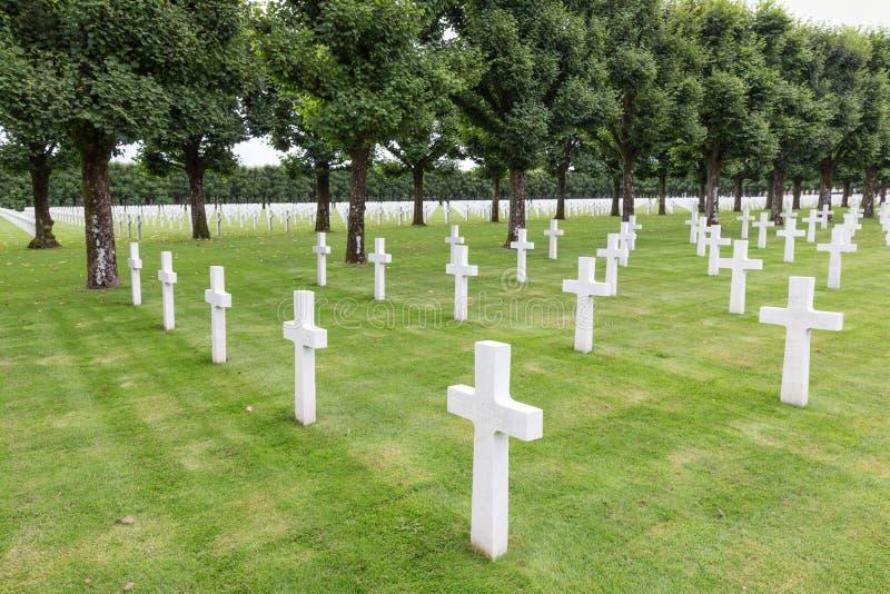 Soldats américains du cimetière WW1 qui sont morts à la bataille de Verdun photographie stock libre de droits