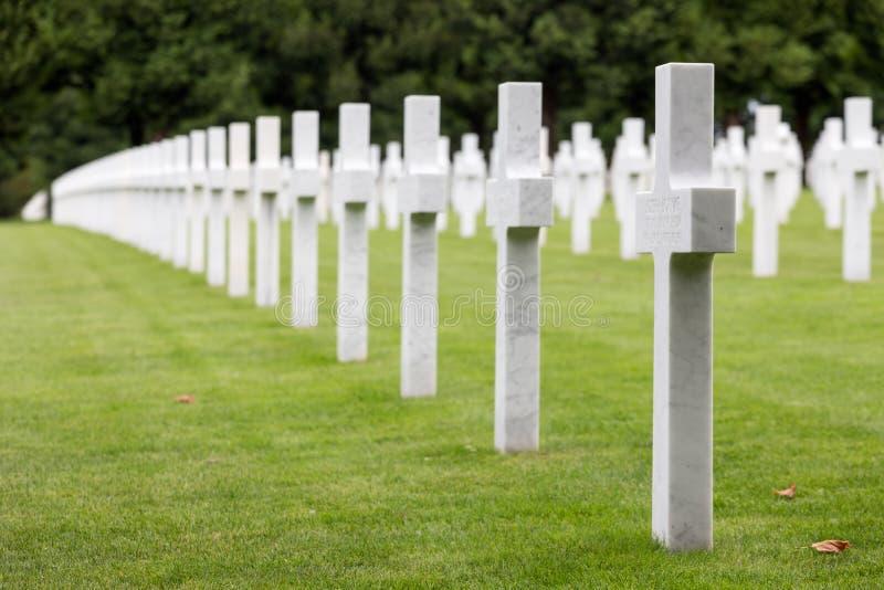 Soldats américains du cimetière WW1 qui sont morts à la bataille de Verdun photo libre de droits
