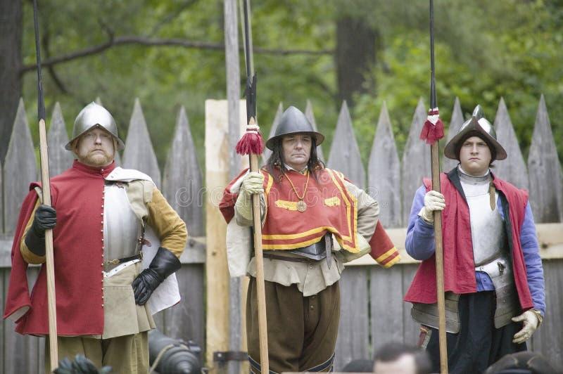 Soldats anglais de reenactor images stock