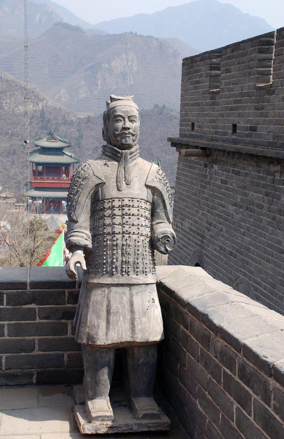 Soldats antiques célèbres sur la Grande Muraille (Chine) photo libre de droits