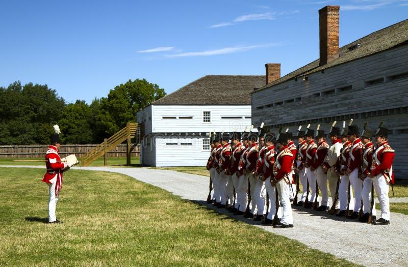 Soldats britanniques dans le fort George photo stock