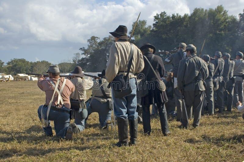 Soldats confédérés photographie stock