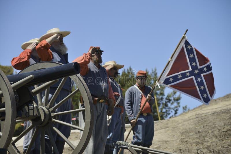 Soldats confédérés images stock