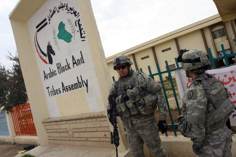 Soldats d'armée des Etats-Unis en Irak photo libre de droits