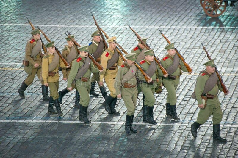 Soldats de la première guerre mondiale (reconstruction) images stock