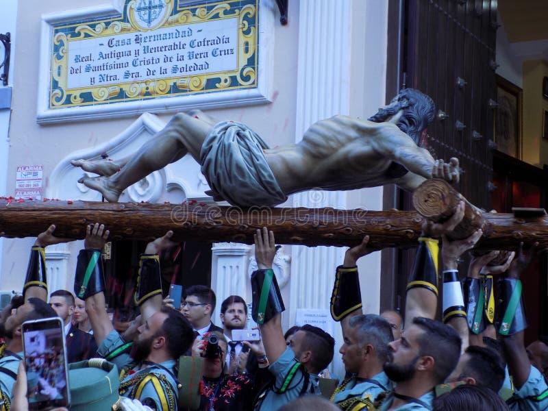Soldats de Legiorany avec le Sto La Vera Cruz de Cristo De photographie stock libre de droits