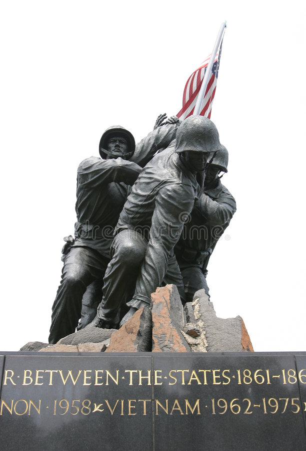 Soldats de marine commémoratifs photo stock