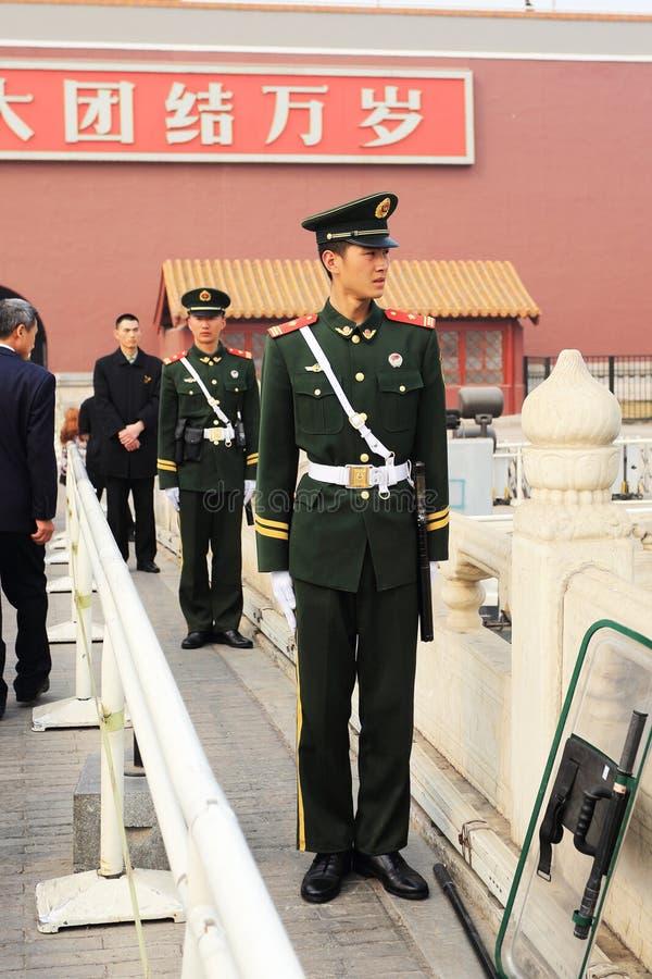 Soldats de Place Tiananmen image libre de droits