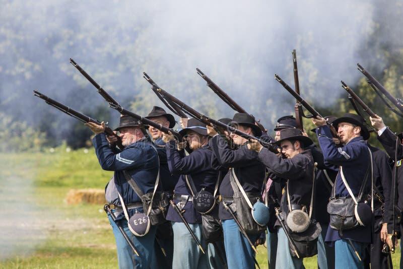 Soldats des syndicats de la guerre civile américaine photo stock