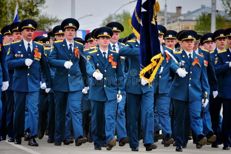 Soldats et dirigeants de l'arm?e russe images stock
