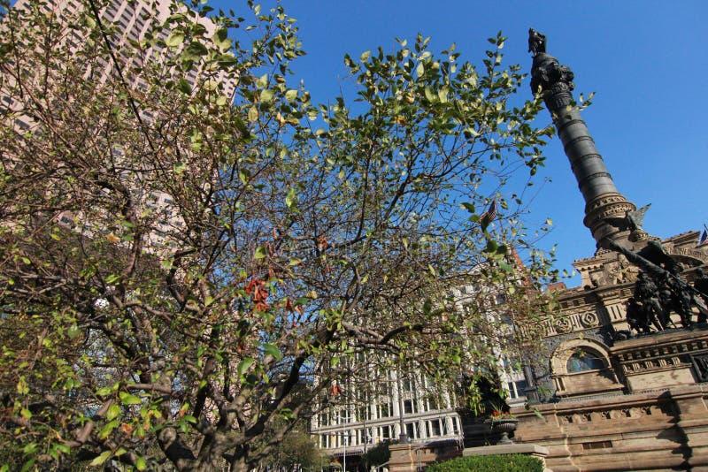 Soldats et monument Cleveland des marins photos libres de droits