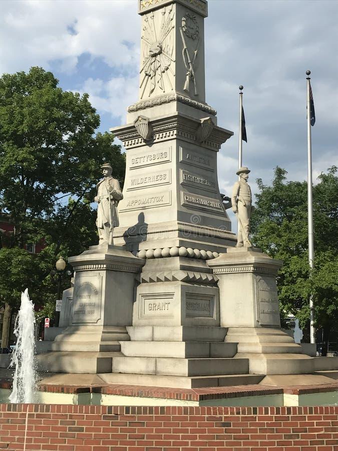 Soldats et monument de marins en Easton Pennsylvania image libre de droits