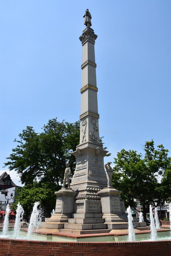 Soldats et monument de marins en Easton Pennsylvania photographie stock libre de droits