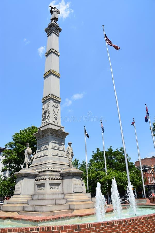 Soldats et monument de marins en Easton Pennsylvania images libres de droits