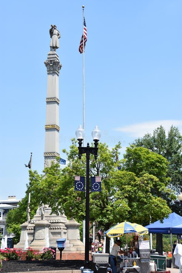 Soldats et monument de marins en Easton Pennsylvania photo stock