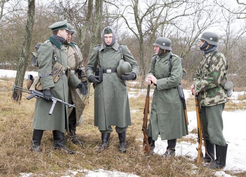 Soldats fascistes allemands luxuriants images stock