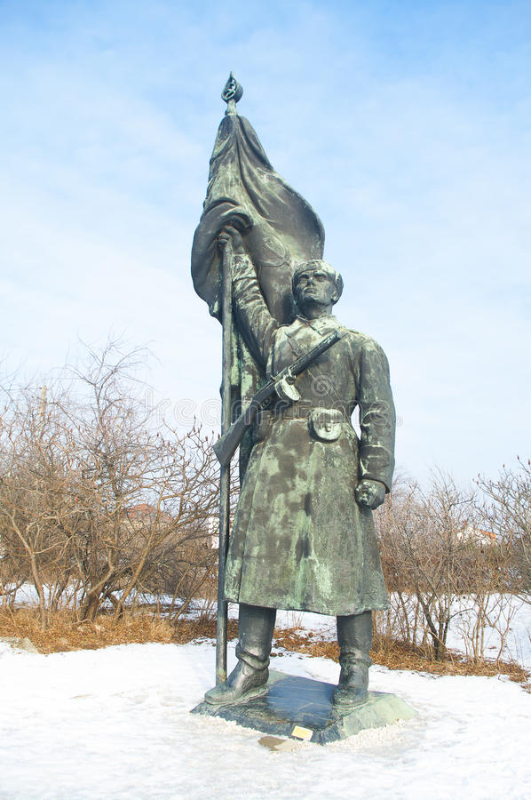 Soldatstaty för röd armé royaltyfria foton