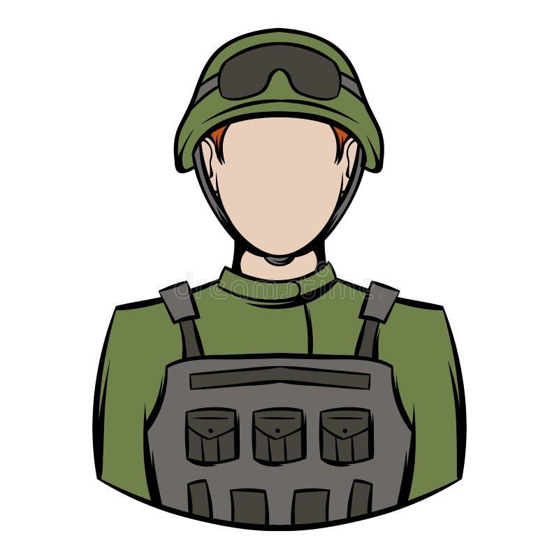 Soldatsymbolstecknad film vektor illustrationer