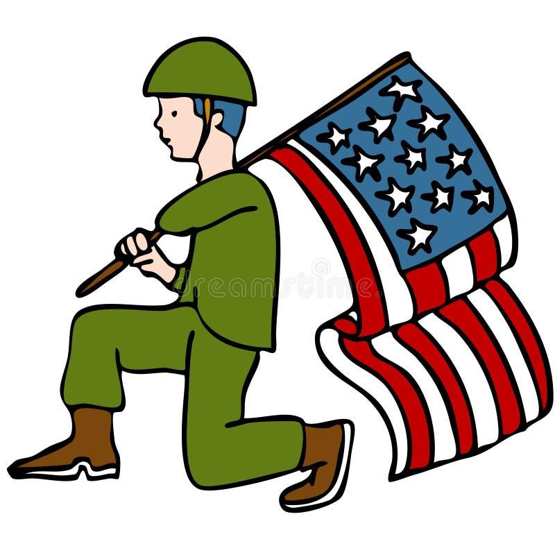 soldatveteran royaltyfri illustrationer