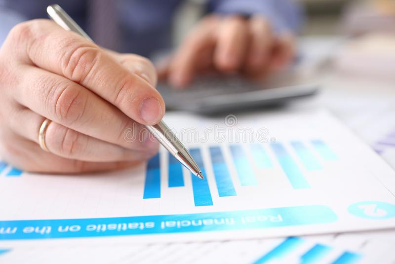 Solde de commercialisation de dette de comptabilité d'entreprise images stock