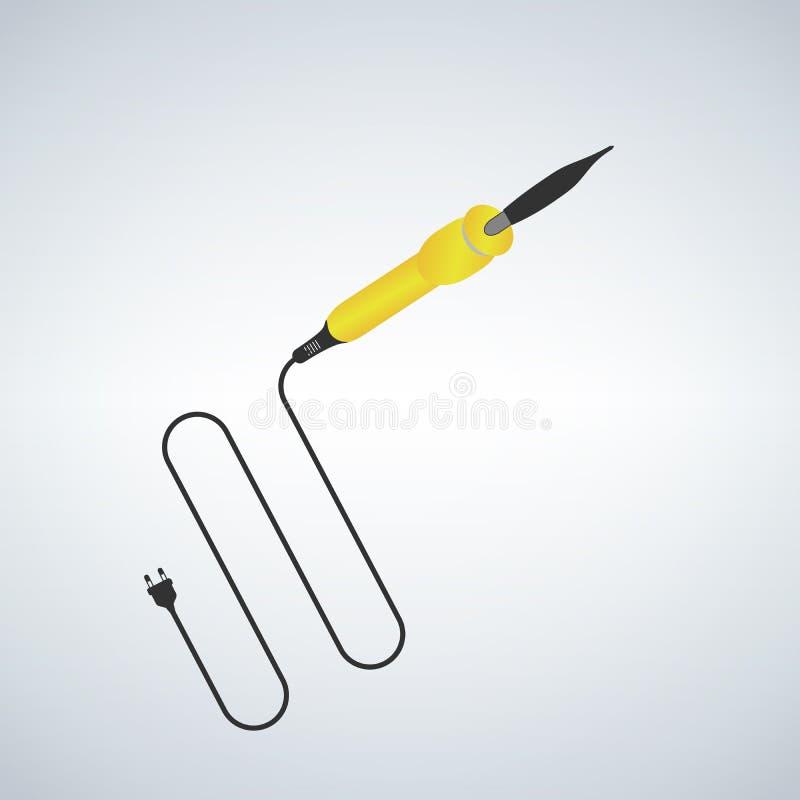Soldeerbout met een yellowhandle Elektronische apparatuur vector illustratie