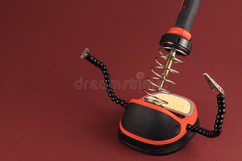 Download Soldering Iron Detail stock image. Image of heat, electric - 3240855