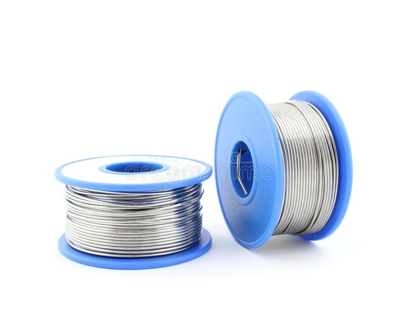 Soldering wire two reels stock photo. Image of electric - 73346046