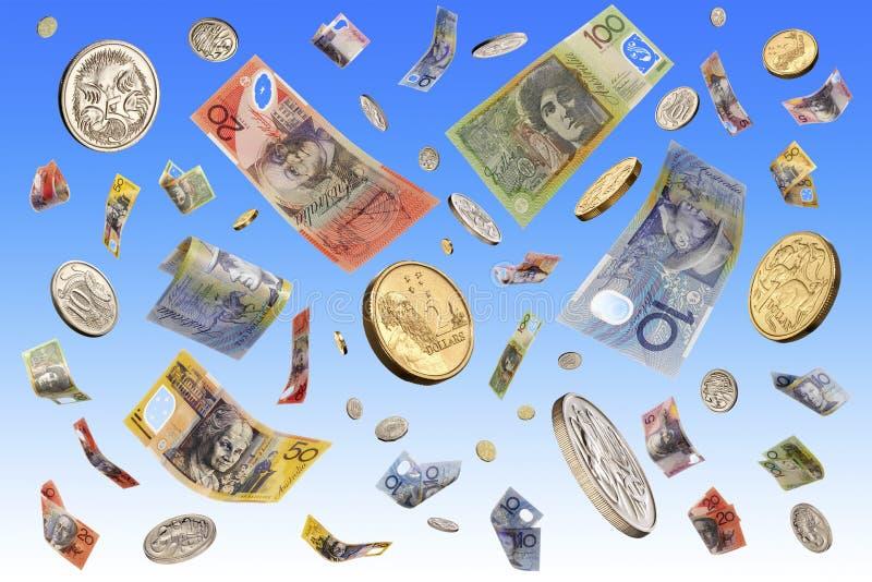 Soldi australiani di caduta illustrazione di stock