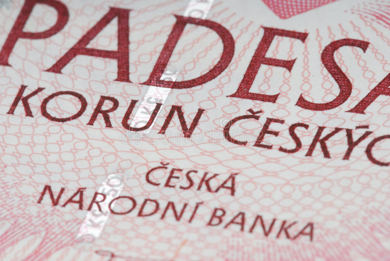 Soldi cechi fotografia stock libera da diritti