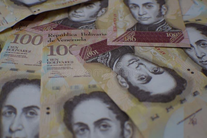 Soldi dal Venezuela o dal Venezuelan Bolivares immagini stock libere da diritti