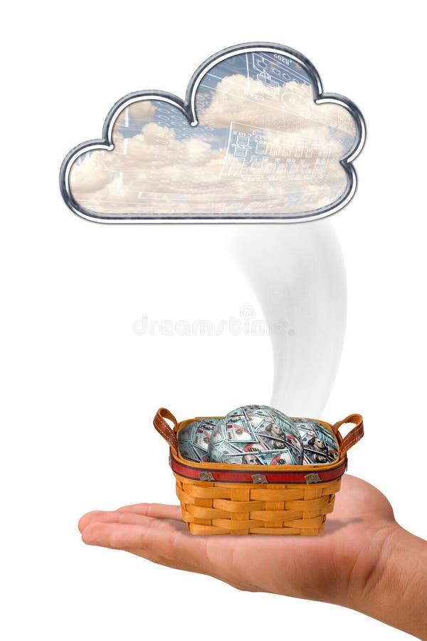 Soldi dalle nuvole fotografia stock libera da diritti