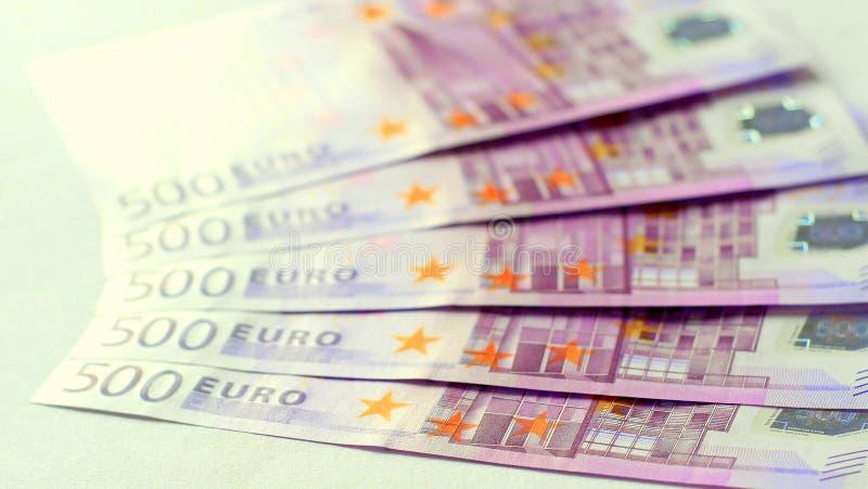 soldi dell'euro 500 immagini stock