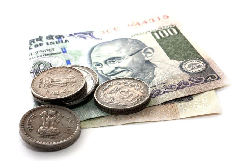 Soldi dell'indiano della rupia immagine stock libera da diritti