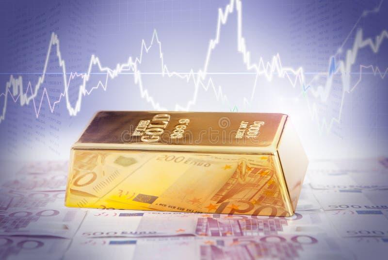 Soldi delle barre di oro immagini stock libere da diritti