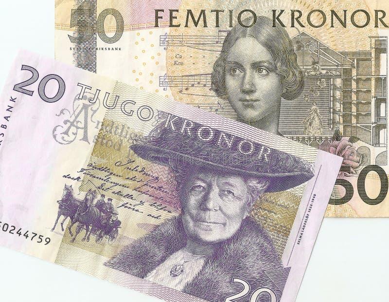 Soldi dello svedese del frammento fotografie stock libere da diritti