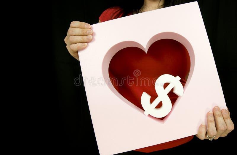 Soldi di amore immagine stock libera da diritti