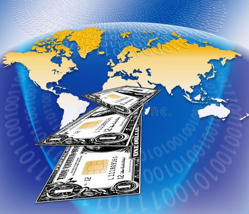 Soldi di commercio elettronico illustrazione vettoriale