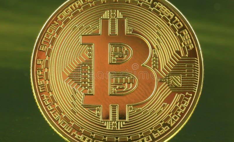 Soldi di cryptocurrency di Bitcoins immagini stock libere da diritti