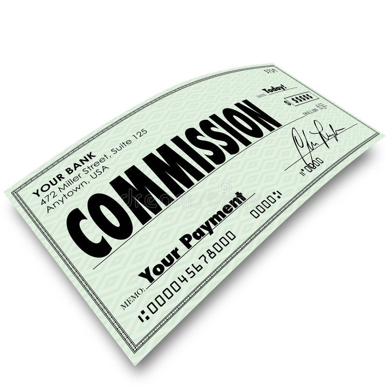 Soldi di reddito di paga della compensazione di vendita del controllo della Commissione royalty illustrazione gratis