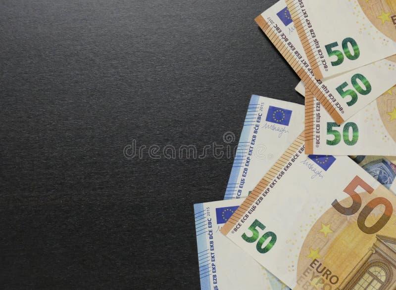 Soldi Euro valuta Cenni storici dei contanti fotografie stock libere da diritti